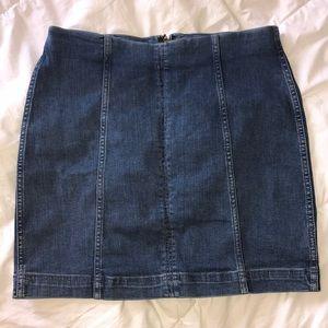 Free People •  Denim Skirt